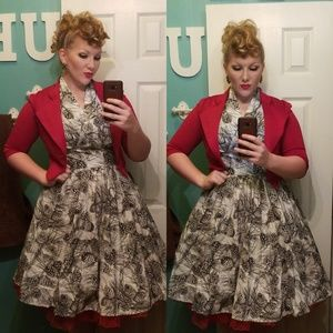 Modcloth Retrolicious Rockabilly Dress Size L